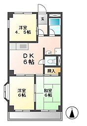 コーポ・タシロ[2階]の間取り