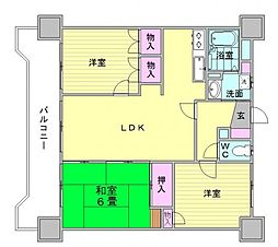 三愛シティライフ博多駅東[3階]の間取り