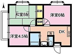 SKYCITY 22[2階]の間取り