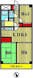 埼玉県越谷市宮本町3丁目の賃貸マンションの間取り