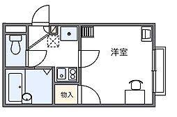 東京都府中市多磨町1丁目の賃貸アパートの間取り