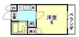 CUBIC15[102号室]の間取り