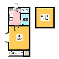 コーポNAOE[2階]の間取り
