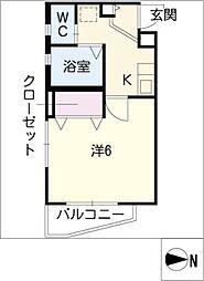 チェリーコーポ[1階]の間取り