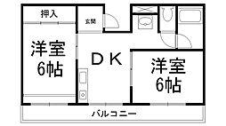 京ハイツII[0201号室]の間取り