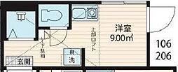 JR総武線 大久保駅 徒歩7分の賃貸アパート 地下1階ワンルームの間取り