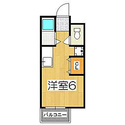 京都府京都市上京区新町通一条上る一条殿町の賃貸アパートの間取り