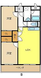 愛知県名古屋市緑区鳴海町字神ノ倉の賃貸マンションの間取り