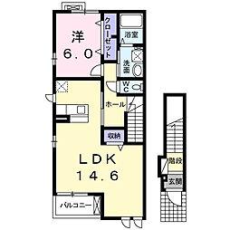 コンフォルト カーサ D[2階]の間取り