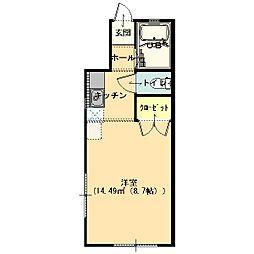 アネックス21城之腰2[1階]の間取り