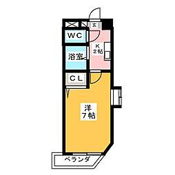 アスクHARA[2階]の間取り