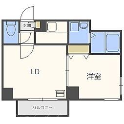 北海道札幌市中央区北五条西15丁目の賃貸マンションの間取り