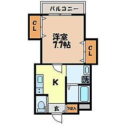 プチメゾン福田 パート2[102号室]の間取り