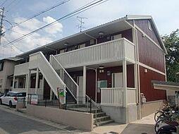 京都府京都市山科区音羽森廻り町の賃貸アパートの外観