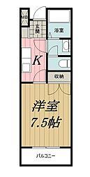 千葉県千葉市中央区鶴沢町の賃貸マンションの間取り