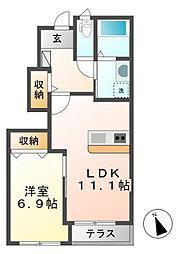 兵庫県加東市南山の賃貸アパートの間取り