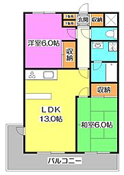 エムハイツ高野台II[1階]の間取り