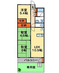 新松戸南パークハウスB棟[106号室号室]の間取り