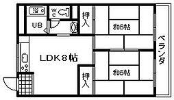 トークストリートアソガワ 2[3階]の間取り