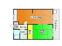 コーポ福井[2階]の間取り