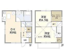 [一戸建] 東京都新宿区原町 の賃貸【/】の間取り