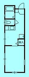 ハイツ岩本[1階]の間取り