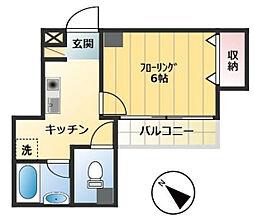 アキマンション[2階]の間取り