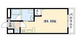 兵庫県西宮市甲子園口北町の賃貸マンションの間取り