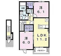 アニメート・A[2階]の間取り
