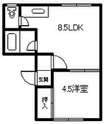 サンセットK6・3[201号室]の間取り