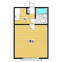 メゾン蟻ヶ崎[3階]の間取り