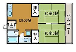 かんわハイム[2階]の間取り