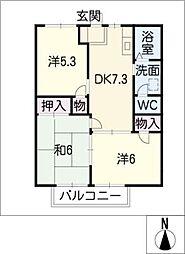 ニューシティ塚原[2階]の間取り