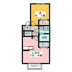 クータウン[2階]の間取り