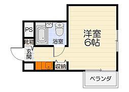 大阪府和泉市池上町1丁目の賃貸マンションの間取り