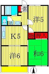 プロスペールME[2階]の間取り