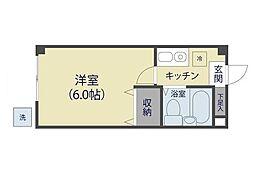 シャルマン松原駅前[108号室]の間取り