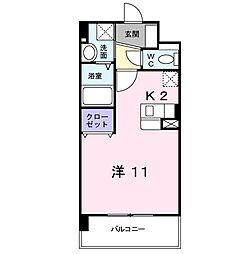 リアン熊本[2階]の間取り