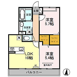 (仮)D‐room桜区下大久保[202号室]の間取り
