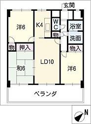 愛知県名古屋市千種区猫洞通5丁目の賃貸マンションの間取り