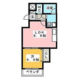 Cherim 井尻I[3階]の間取り