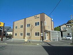 新潟県新潟市北区葛塚の賃貸アパートの外観