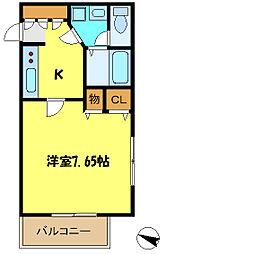 埼玉県さいたま市中央区上落合4丁目の賃貸アパートの間取り