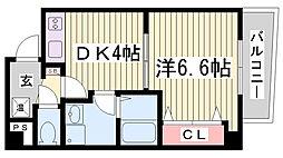 ラ・フォンテ三宮旭[8階]の間取り