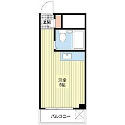 アビタシオン大倉山[105号室]の間取り