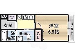 Osaka Metro御堂筋線 北花田駅 徒歩3分の賃貸マンション 1階1Kの間取り
