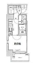 Osaka Metro中央線 九条駅 徒歩6分の賃貸マンション 8階1Kの間取り