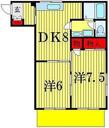 アビタシオン壱番館[1階]の間取り