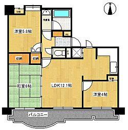 インシュランスビル9[5階]の間取り