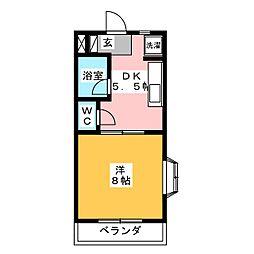 パール II[3階]の間取り